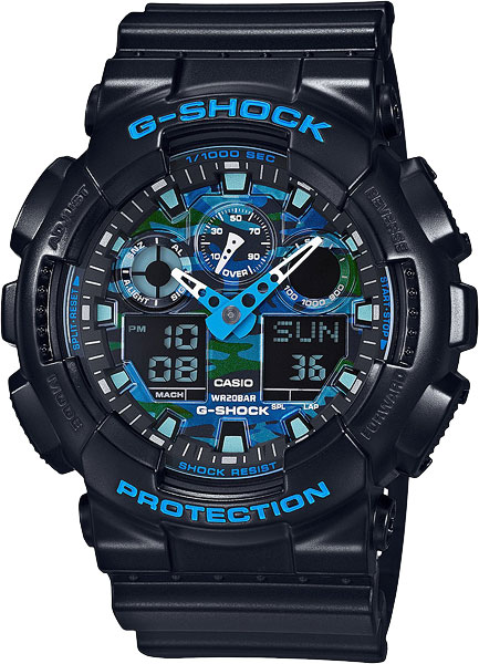 Мужские часы Casio GA-100CB-1A йбор ebohr тяние серия черно наплавленных любителей часов смотреть ремень ши ин женский стол 10 450 741