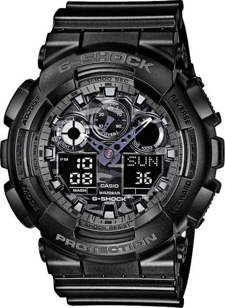 Мужские часы Casio GA-100CF-1A casio g shock ga 100cf 1a9