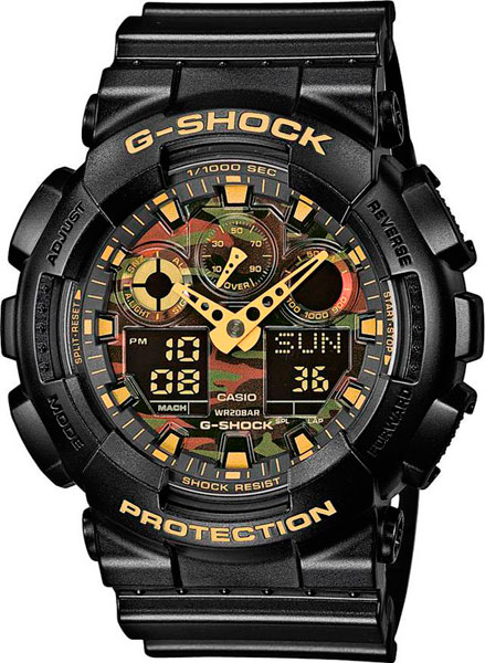 Мужские часы Casio GA-100CF-1A9 casio ga 400gb 1a9