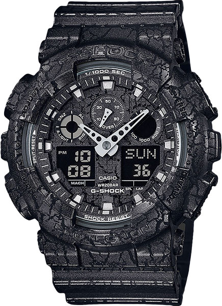 Мужские часы Casio GA-100CG-1A casio g shock g classic ga 110mb 1a