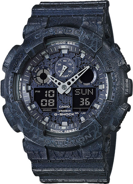 Мужские часы Casio GA-100CG-2A casio g shock g specials ga 100cg 7a