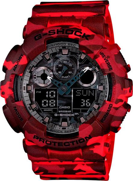 Мужские часы Casio GA-100CM-4A casio watch multi function shockproof waterproof sports electronic watch male watch ga 100cm 4a ga 100cm 5a ga 100cm 8a