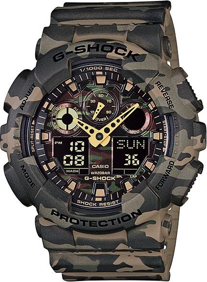 Мужские часы Casio GA-100CM-5A часы casio ltp e118g 5a