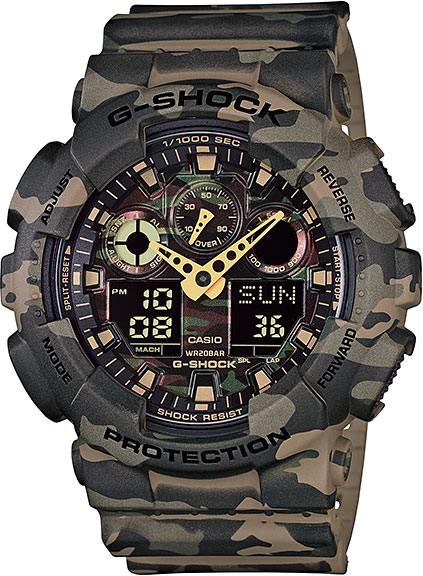 Мужские часы Casio GA-100CM-5A casio watch multi function shockproof waterproof sports electronic watch male watch ga 100cm 4a ga 100cm 5a ga 100cm 8a