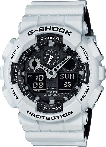 Мужские часы Casio GA-100L-7A casio sheen multi hand shn 3013d 7a