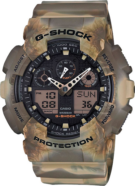 Мужские часы Casio GA-100MM-5A casio casio ga 100mm 5a