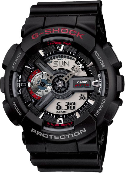 Мужские часы Casio GA-110-1A casio g shock g classic ga 110mb 1a