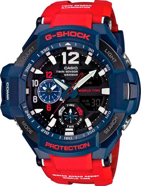 Мужские часы Casio GA-1100-2A casio g shock g classic ga 110mb 1a