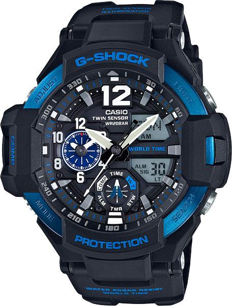 Мужские часы Casio GA-1100-2B casio g shock g classic ga 110mb 1a