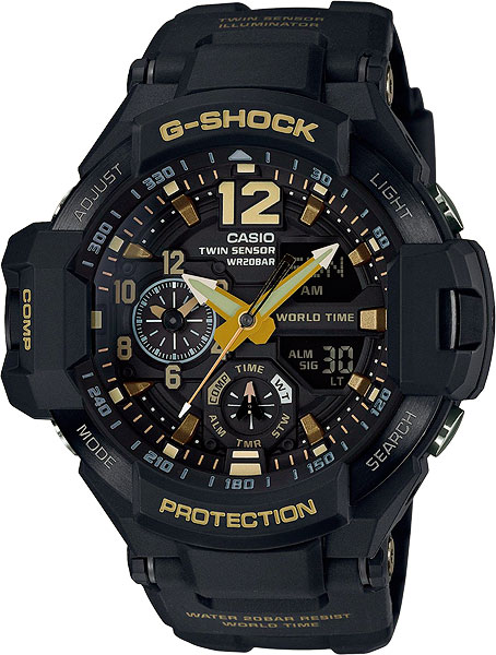 Мужские часы Casio GA-1100GB-1A casio g shock g classic ga 110mb 1a