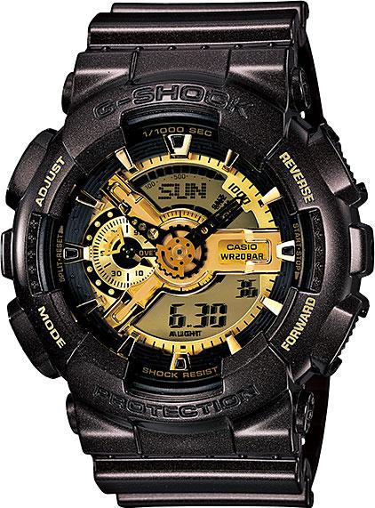 Мужские часы Casio GA-110BR-5A casio g shock g classic ga 110mb 1a
