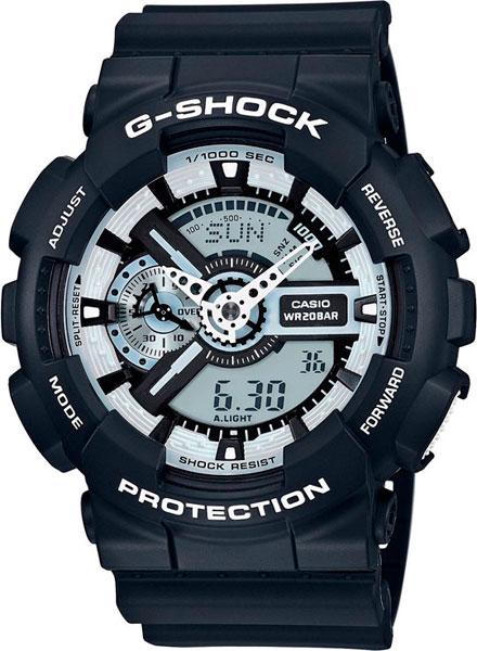 цена Мужские часы Casio GA-110BW-1A онлайн в 2017 году
