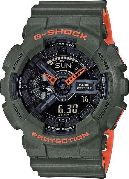 Мужские часы Casio GA-110LN-3A casio casio ga 110lp 3a