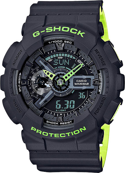 цена Мужские часы Casio GA-110LN-8A онлайн в 2017 году