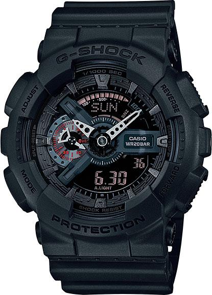Мужские часы Casio GA-110MB-1A casio g shock g classic ga 110mb 1a
