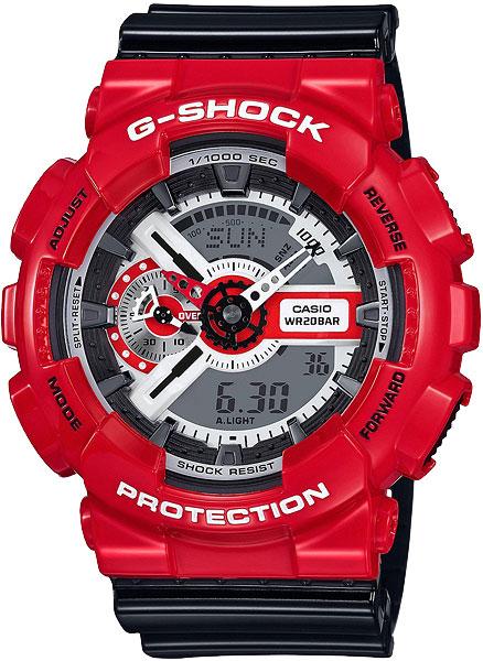 Мужские часы Casio GA-110RD-4A часы casio ga 201rd 4a