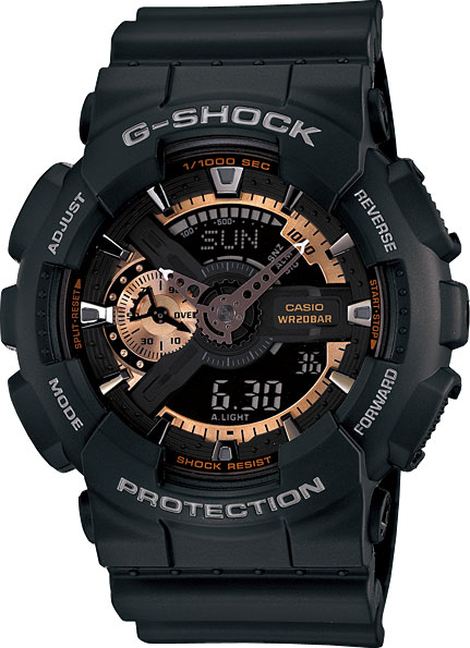 Мужские часы Casio GA-110RG-1A casio g shock g classic ga 110mb 1a