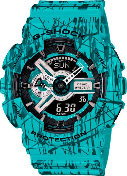 купить Мужские часы Casio GA-110SL-3A онлайн