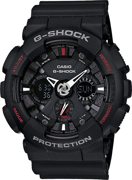Мужские часы Casio GA-120-1A casio g shock g classic ga 110mb 1a