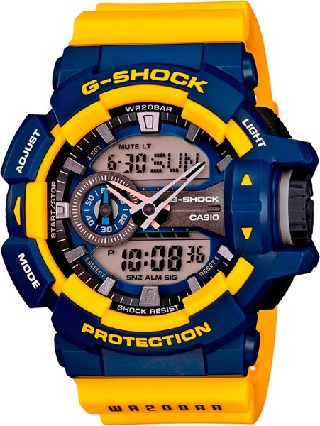 Мужские часы Casio GA-400-9B casio часы casio ga 400 9b коллекция g shock