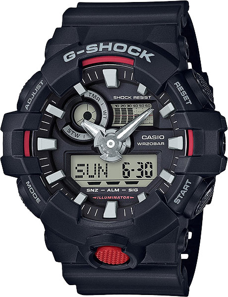 Мужские часы Casio GA-700-1A наручные часы casio ga 1100gb 1a