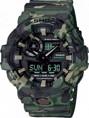 Мужские часы Casio GA-700CM-3A casio casio ga 110lp 3a