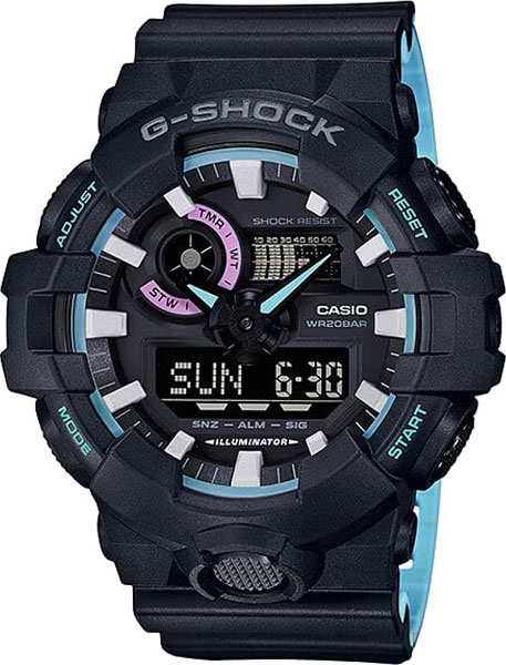 Мужские часы Casio GA-700PC-1A casio ga 700pc 1a