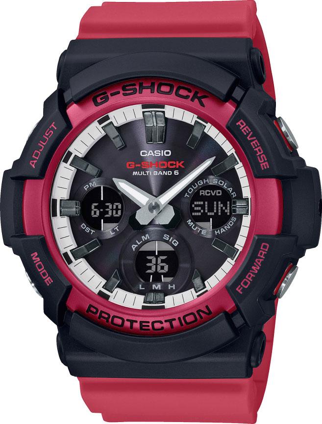 Мужские часы Casio GAW-100RB-1AER часы сейко мужские каталог водонепроницаемые противоударные