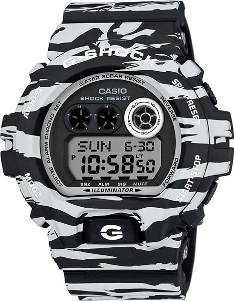Мужские часы Casio GD-X6900BW-1E casio gd x6900bw 1e