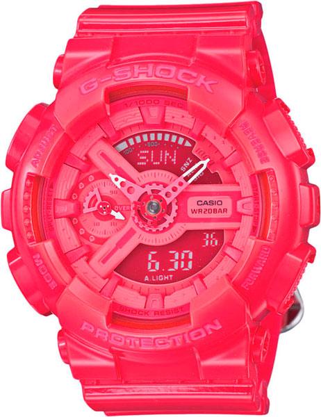 цена Женские часы Casio GMA-S110CC-4A онлайн в 2017 году