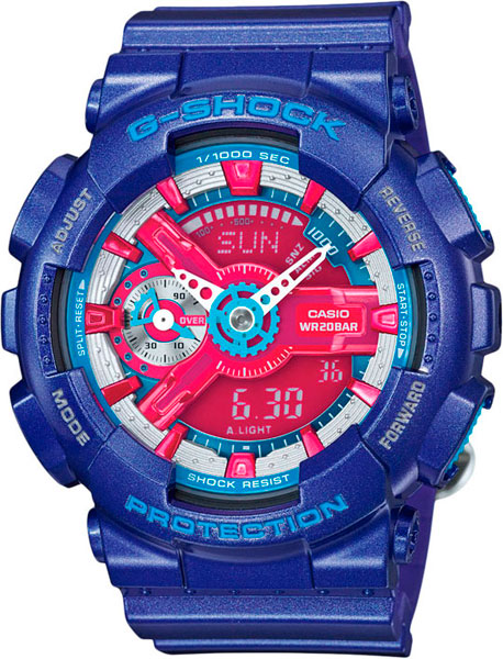 Женские часы Casio GMA-S110HC-2A casio gma s120mf 2a