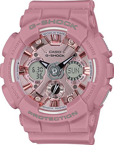 цена Женские часы Casio GMA-S120DP-4A онлайн в 2017 году