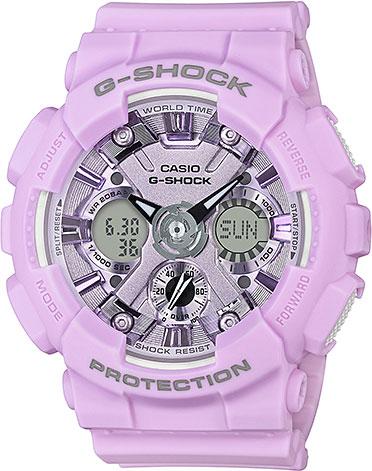 цена Женские часы Casio GMA-S120DP-6A онлайн в 2017 году