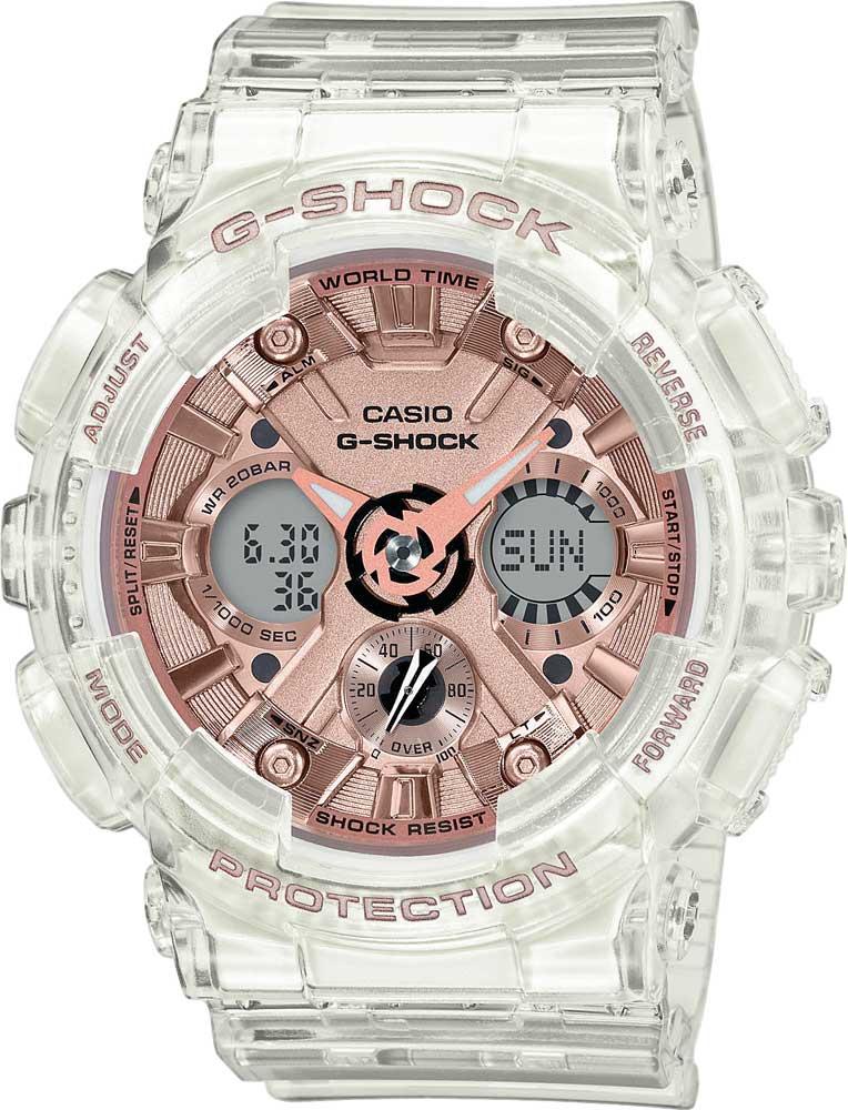 цена Женские часы Casio GMA-S120SR-7AER онлайн в 2017 году