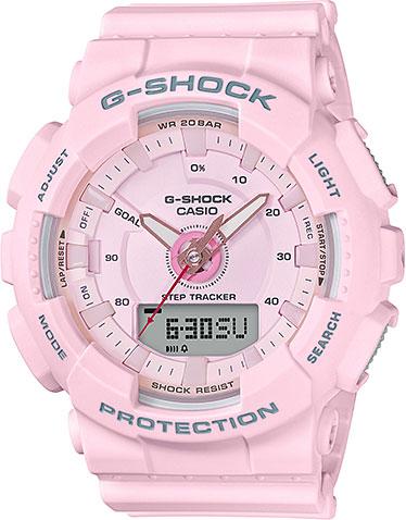 цена Женские часы Casio GMA-S130-4A онлайн в 2017 году