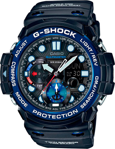 Мужские часы Casio GN-1000B-1A  casio g shock gulfmaster gn 1000b 1a