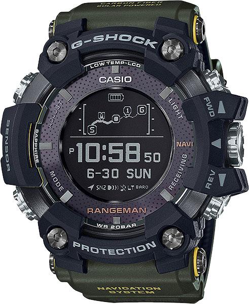Мужские часы Casio GPR-B1000-1B часы с навигацией для детей
