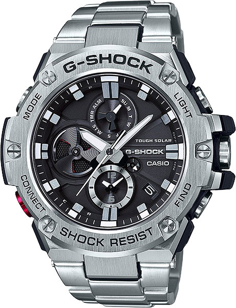 где купить Мужские часы Casio GST-B100D-1A по лучшей цене