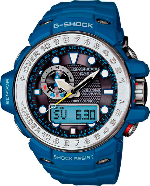 Мужские часы Casio GWN-1000-2A часы casio g shock gulfmaster gwn 1000b 1b black navy