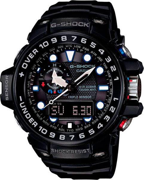 Мужские часы Casio GWN-1000B-1A часы casio g shock gulfmaster gwn 1000b 1b black navy