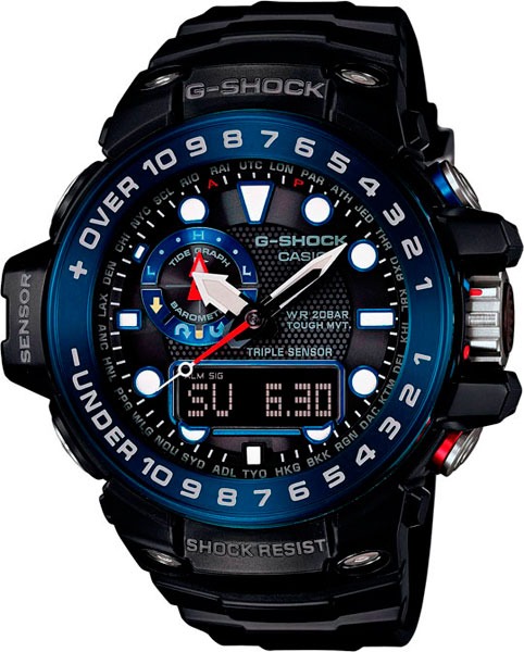Мужские часы Casio GWN-1000B-1B часы casio g shock gulfmaster gwn 1000b 1b black navy