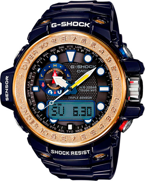 Мужские часы Casio GWN-1000F-2A часы casio g shock gwn 1000f 2a true black gold
