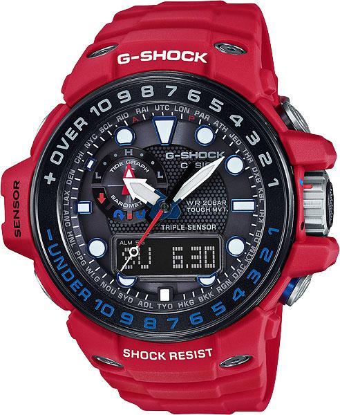 Мужские часы Casio GWN-1000RD-4A часы casio g shock gulfmaster gwn 1000b 1b black navy