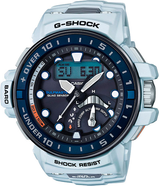 Мужские часы Casio GWN-Q1000-7A часы casio g shock gulfmaster gwn 1000b 1b black navy