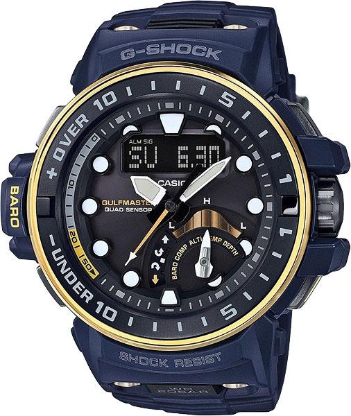 Мужские часы Casio GWN-Q1000NV-2A часы casio g shock gulfmaster gwn 1000b 1b black navy
