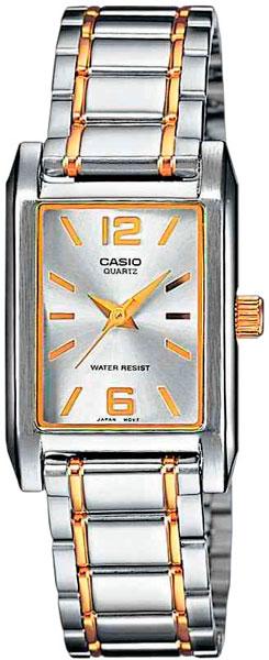 цена Женские часы Casio LTP-1235PSG-7A онлайн в 2017 году
