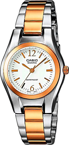 Женские часы Casio LTP-1280PSG-7A casio sheen multi hand shn 3013d 7a
