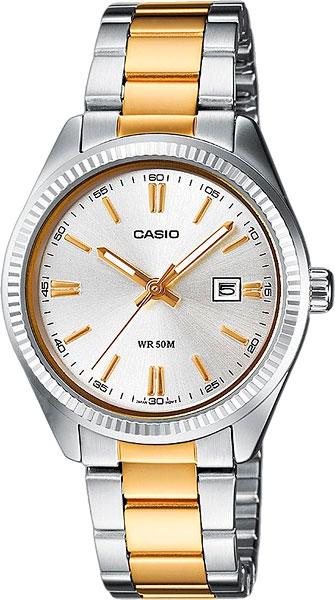 Женские часы Casio LTP-1302PSG-7A женские часы casio lth 1060l 7a