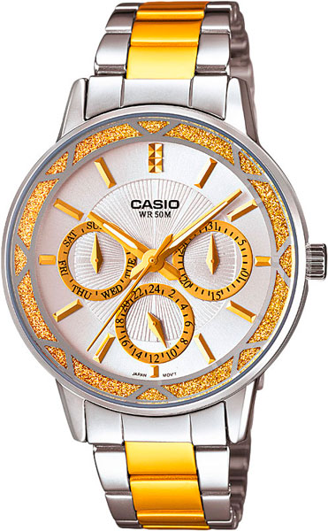 Женские часы Casio LTP-2087SG-7A casio sheen multi hand shn 3013d 7a