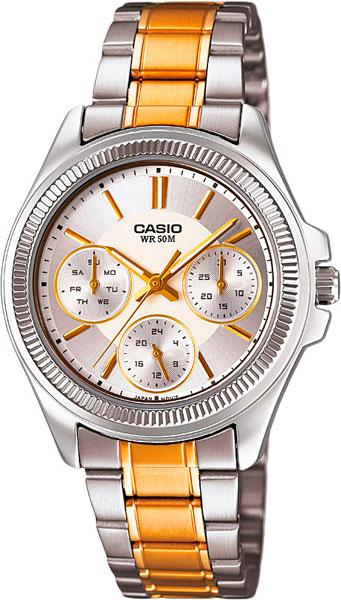 Женские часы Casio LTP-2088SG-7A casio sheen multi hand shn 3013d 7a